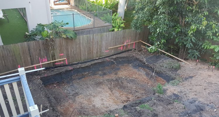 Excavation complete & yard asbestos free