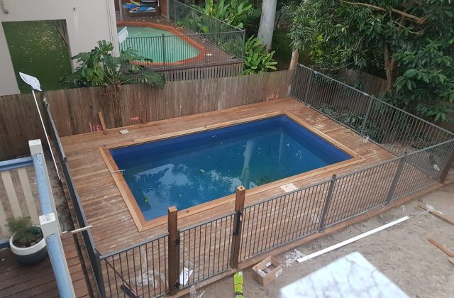 Completed pool in Toowong