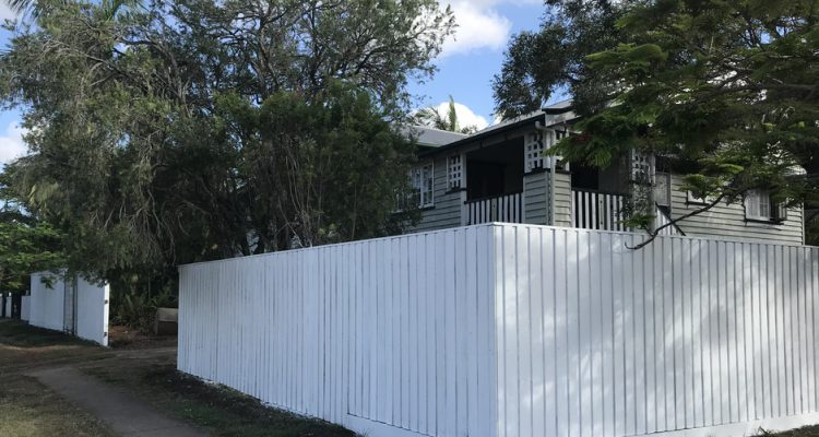 More than 40m of timber fencing was constructed to a height of 2m to give the owners enhanced privacy and security. This involved extensive earthworks as well as timber retaining walls.
